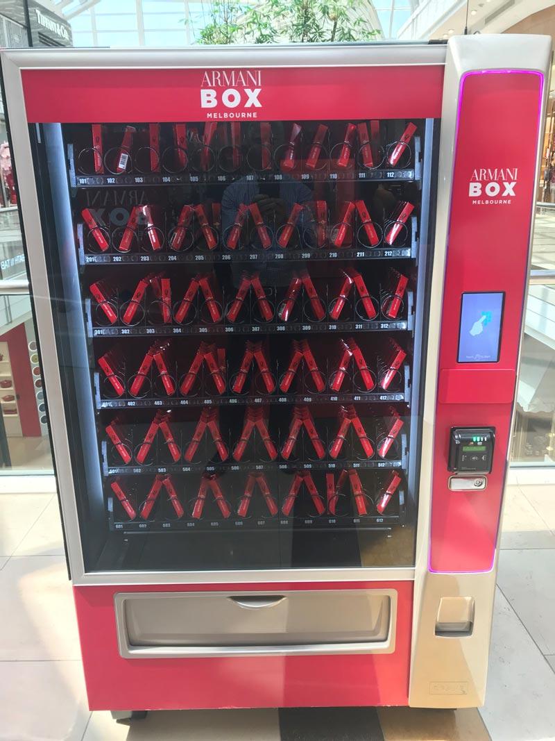 Prince Auto Sales >> Armani Box custom vending machine - Autovending